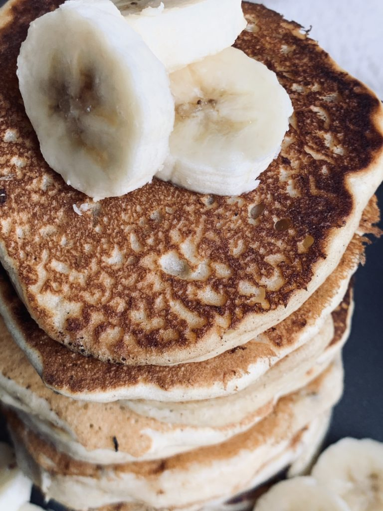 top of stack of pancakes