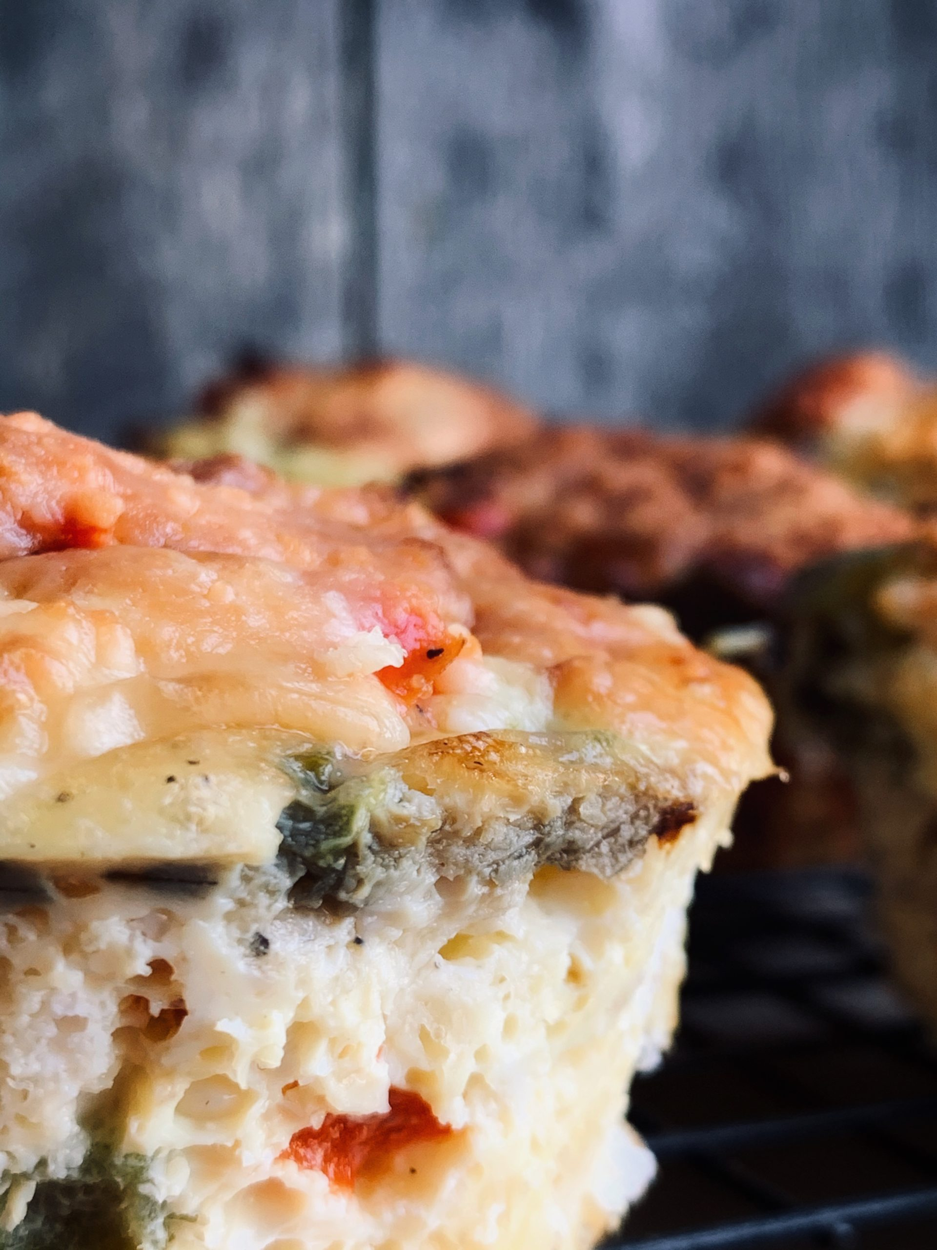 close up of egg muffins