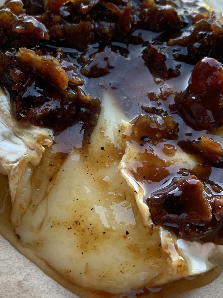 bacon jam and brie cheese