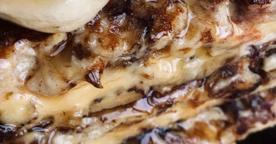 close up french toast