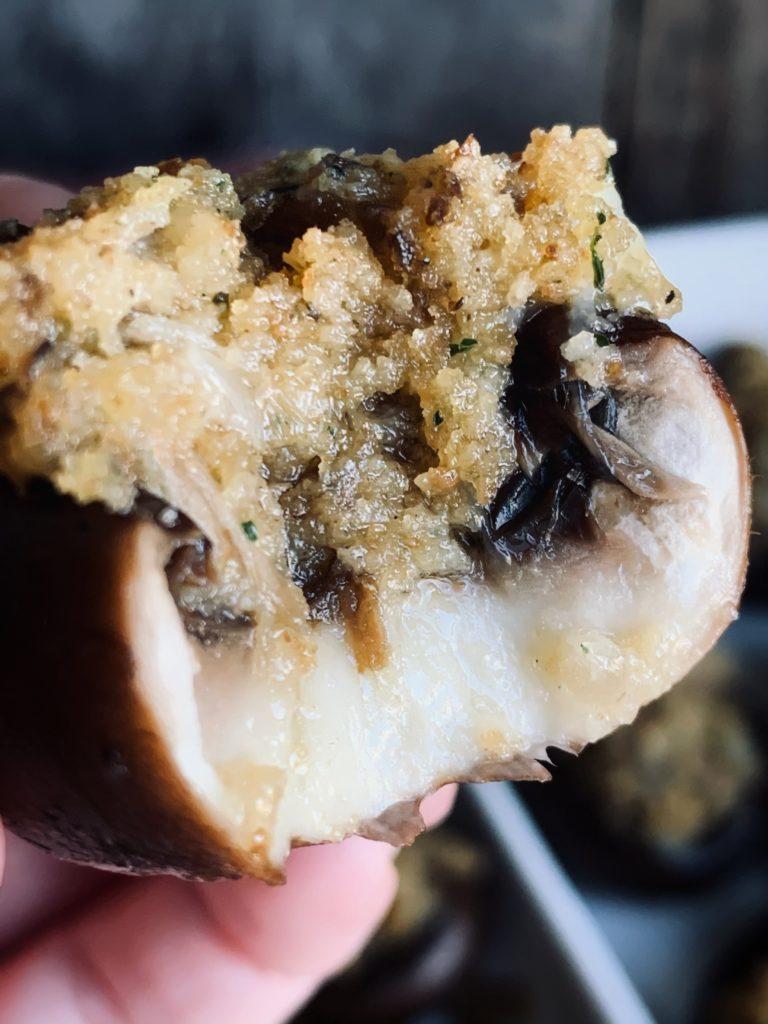 bite of mushroom