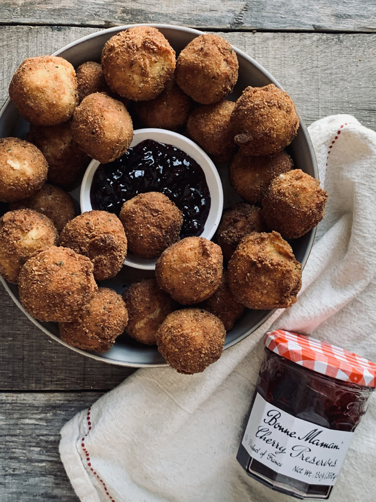 bowl of croquettes