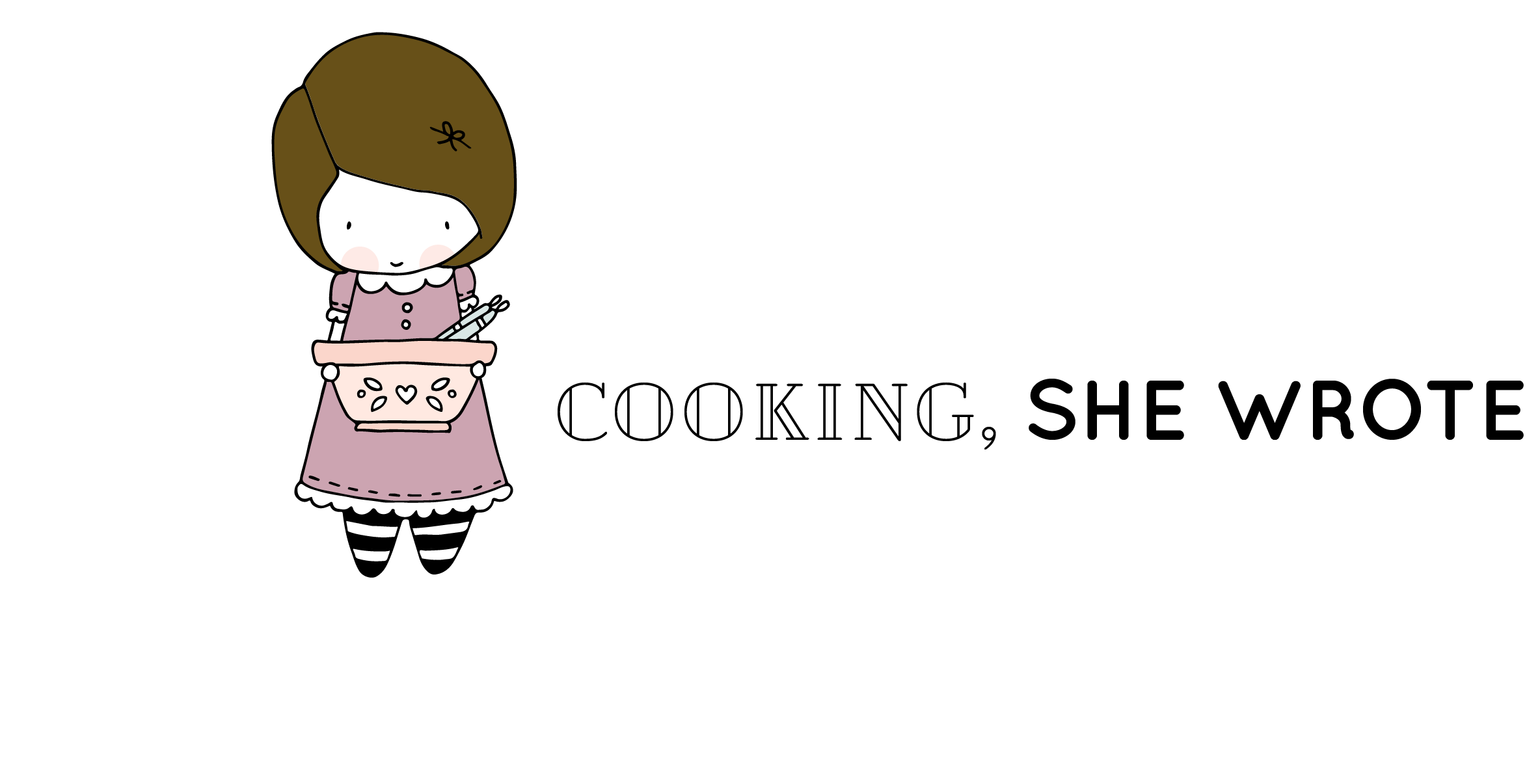 cooking, she wrote